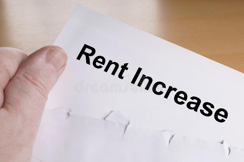Rent Increase Letter Stock Image Image Of Lease Document