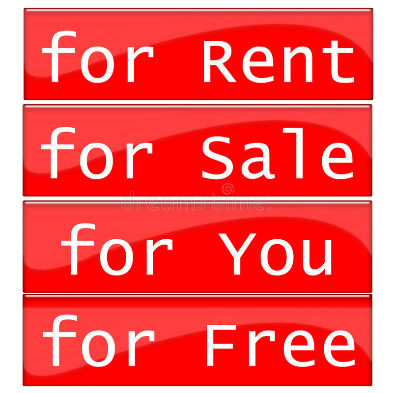 Rent Label Stock Images