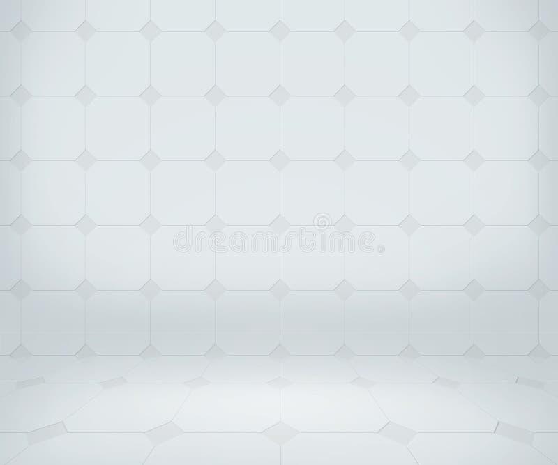 Rent laboratoriumrum för vit stock illustrationer