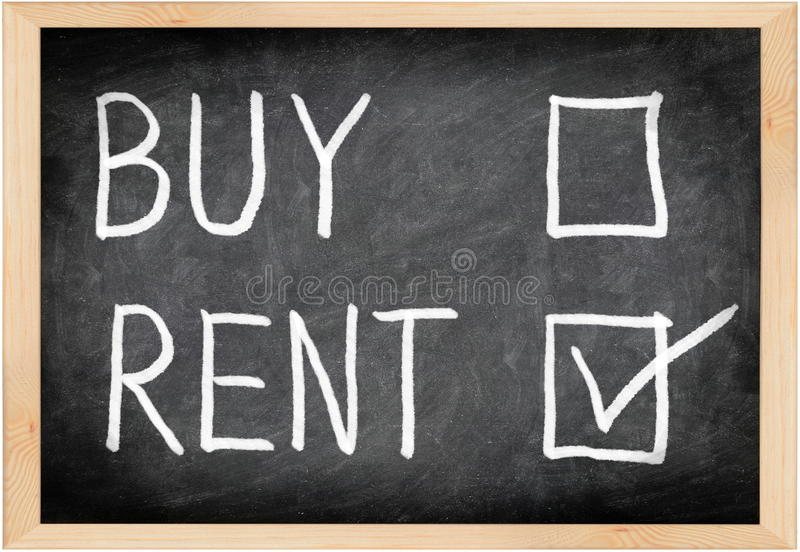 Download Rent Not Buy Blackboard Concept Stock Image - Image: 21700717