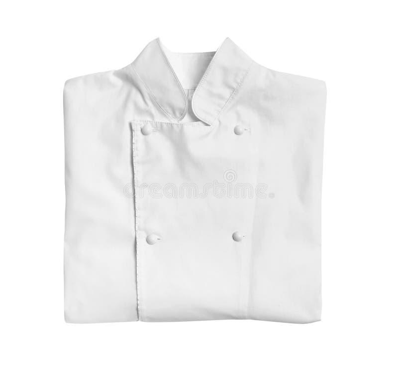 Rent omslag för kock` s på vit bakgrund royaltyfria foton