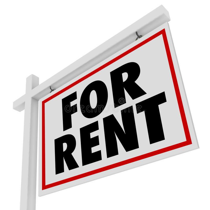 Free Houses For Rent: For Rent Real Estate Home Rental House Sign Stock