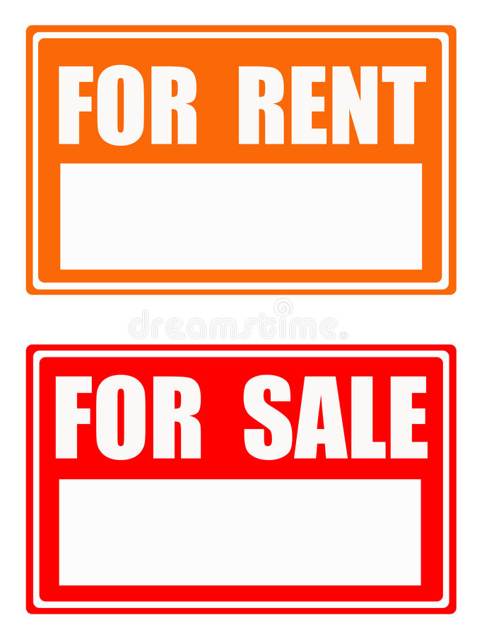 Download For rent / for sale stock illustration. Image of look - 15787825