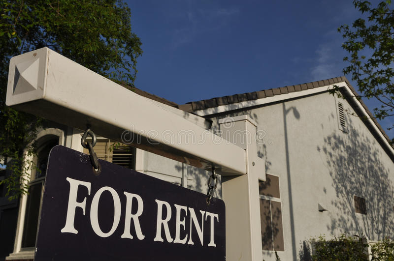 For Rent Sign stock photography