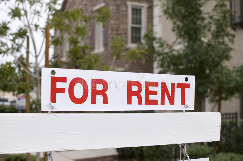 Download For Rent Sign With Homes In Background Stock Photo - Image: 11759058