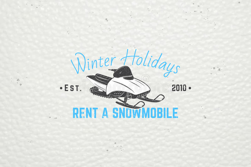 Rent a snowmobile for winter holidays and vacation. stock photography