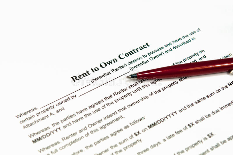 Download Rent To Own Contract Stock Image - Image: 21641151