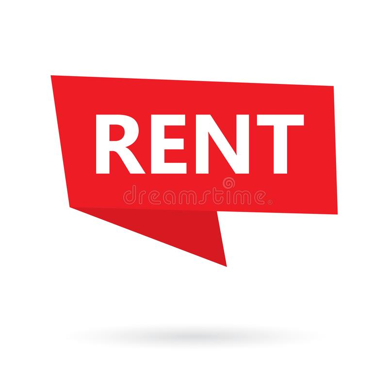 Rent word on a speach bubble stock illustration
