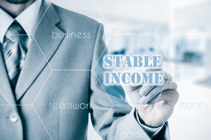 Renta estable el concepto de gestión financiera imagen de archivo