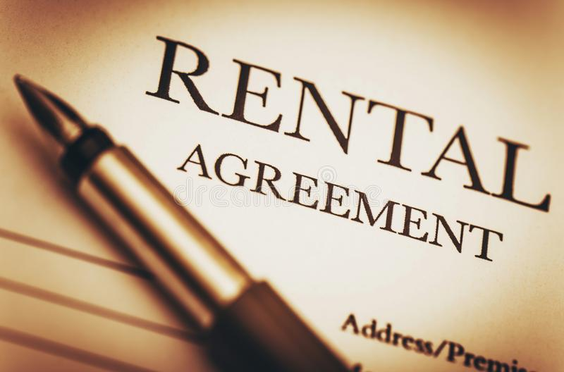 Rental Agreement. And Fountain Pen. Ready to Sign Rental Contract. Residential Real Estate Concept Photo stock photos