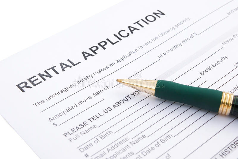 Rental agreement. And pen close up royalty free stock photography