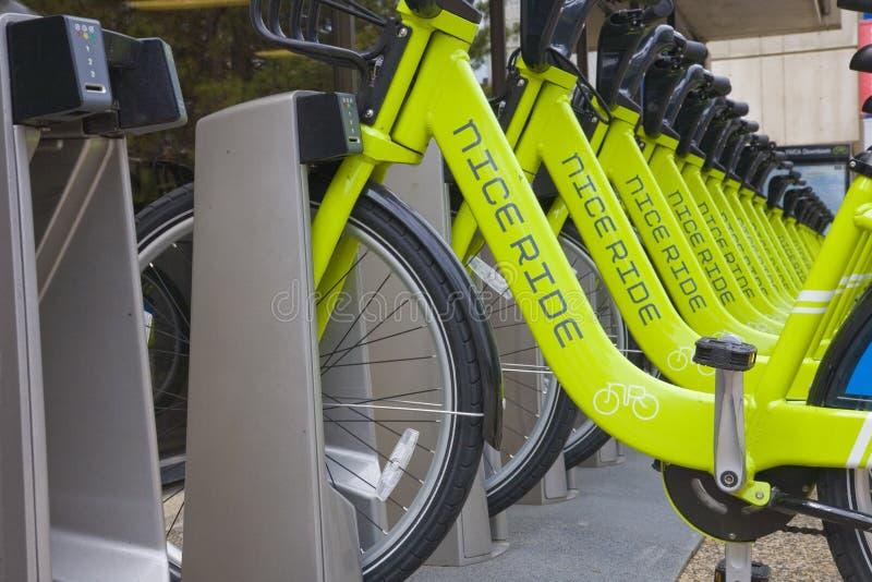 Rental Bikes Minneopolis stock photos