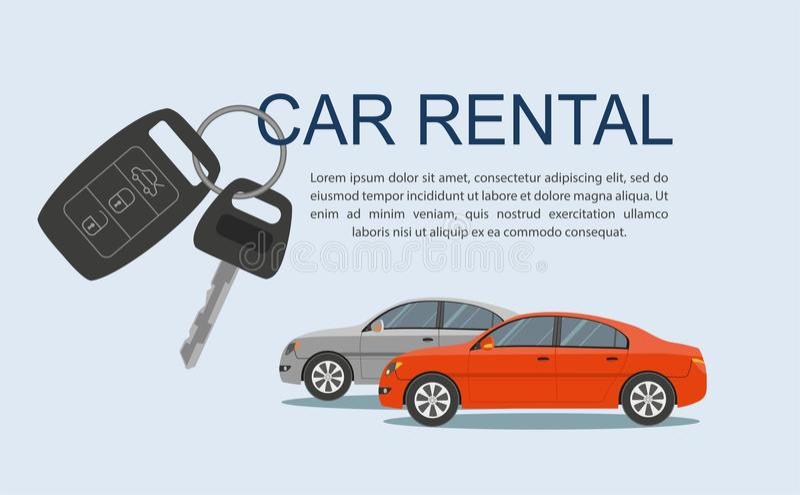 Rental car banners. Rental concept. vector illustration