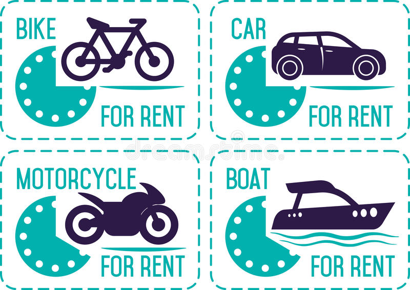 Rental car and other transport banners. vector illustration