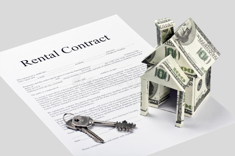 Rental Contract Agreement Form Royalty Free Stock Photos - Image
