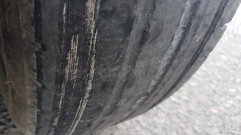 Rental Worn wheels royalty free stock image