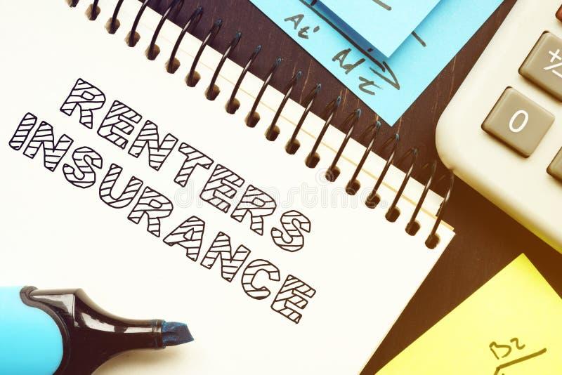 Renter Insurance é mostrado na foto de negócios imagens de stock