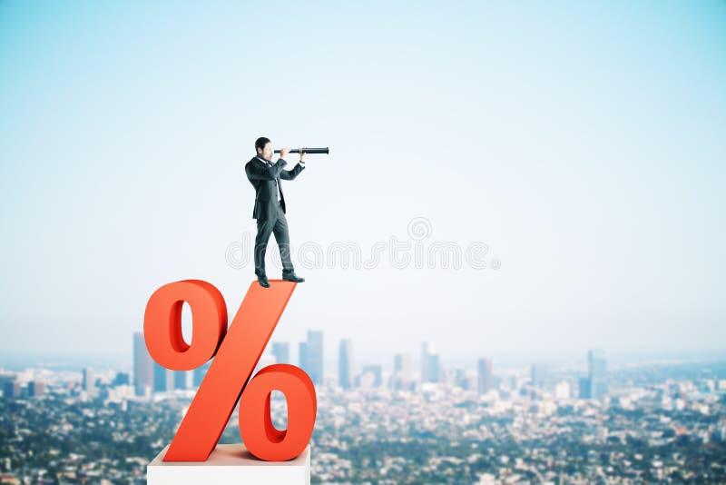 Rentevoet, investering en leningsconcept royalty-vrije stock afbeeldingen
