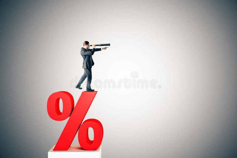 Rentevoet, investering en leningsconcept stock afbeeldingen