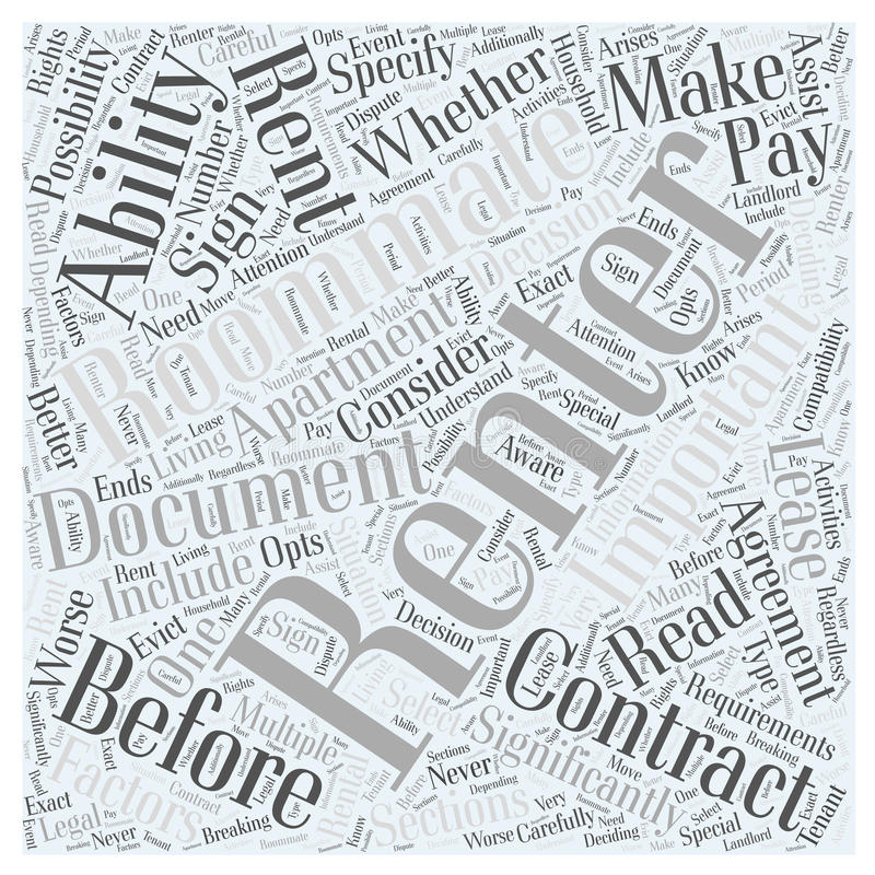 Before Renting An Apartment before renting an apartment word cloud concept background stock