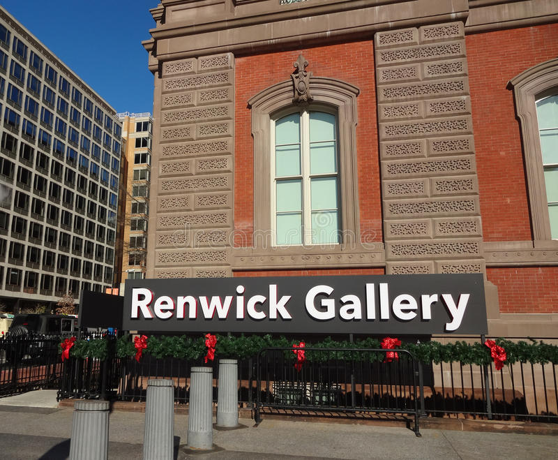 Renwick Gallery in Washington, DC. The Renwick Gallery on Pennsylvania Avenue in Washington, DC is a branch of the Smithsonian American Art Museum stock images