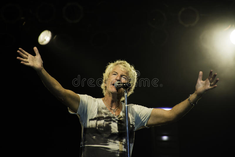 REO Speedwagon Kevin Cronin. REO Speed Wagon performs onstage 2014. Kevin Cronin royalty free stock images