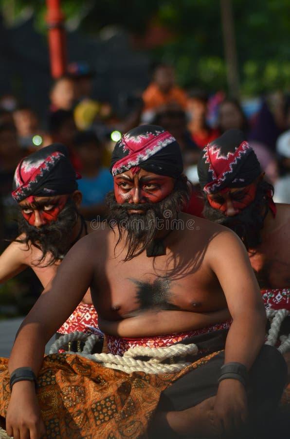 Reog Ponorogo is de cultuur van Indonesië stock foto