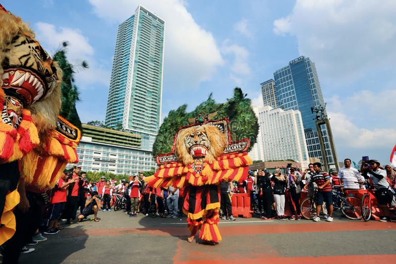 Reog Ponorogo, A traditional culture from east Java Indonesia stock photography
