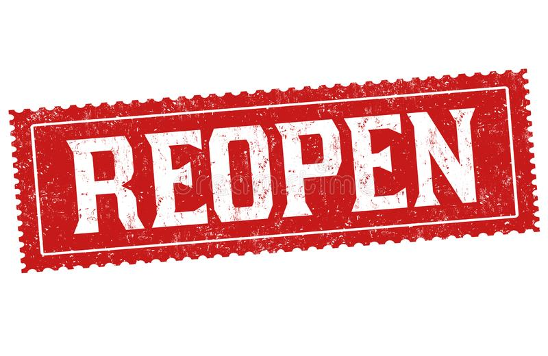 Reopen Sign Stock Illustrations – 960 Reopen Sign Stock Illustrations,  Vectors & Clipart - Dreamstime