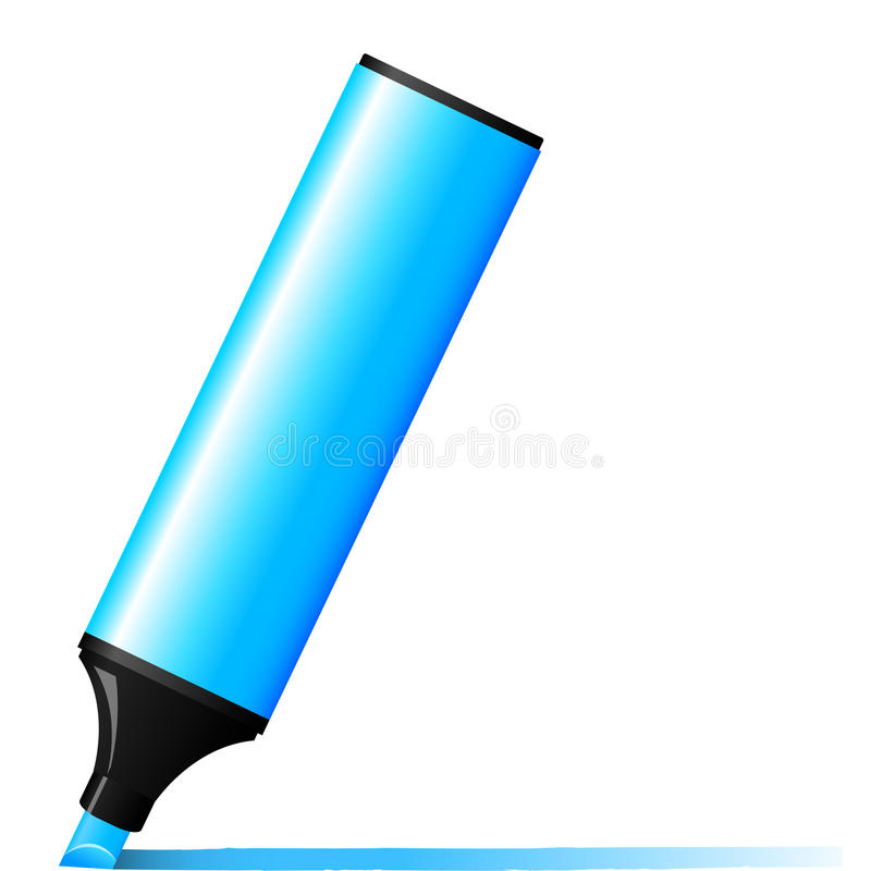 Repère bleu illustration stock