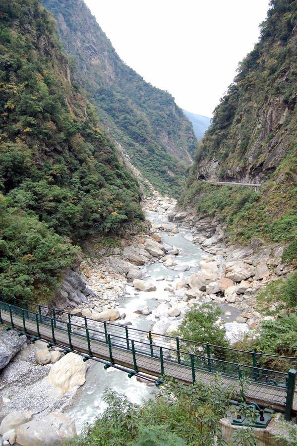 Repère de stationnement national de Taroko images libres de droits