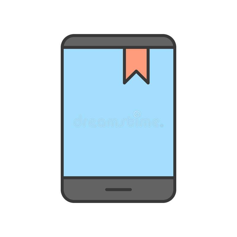 Repère sur l'icône d'écran de dispositif de comprimé ou de smartphone, St editable illustration libre de droits