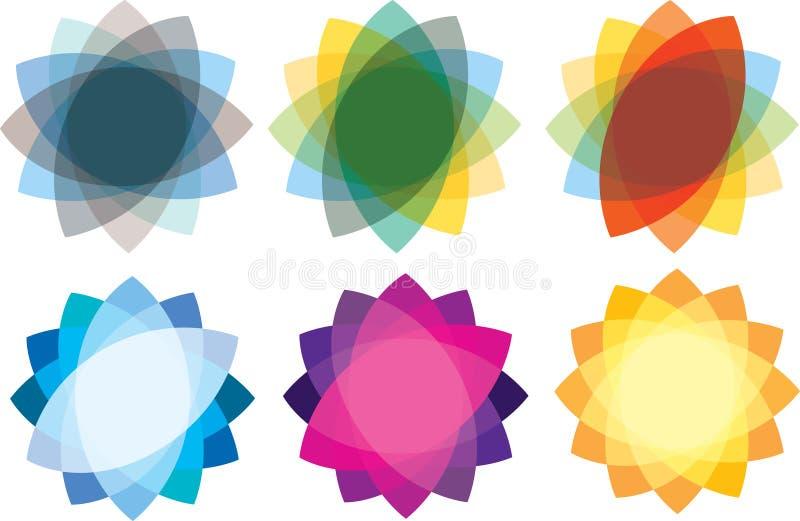 Repères et symboles de logo illustration libre de droits