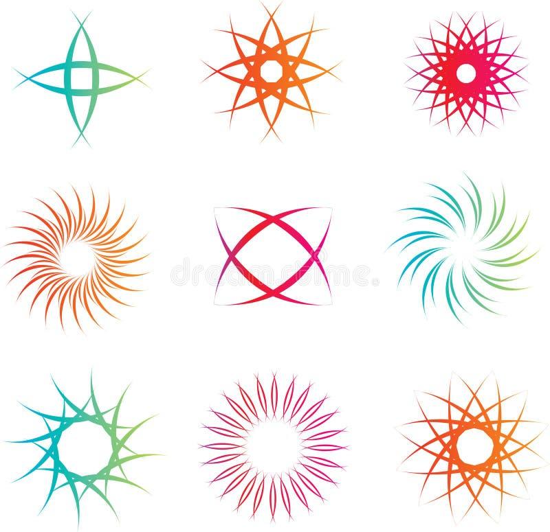 Repères et symboles de logo illustration stock