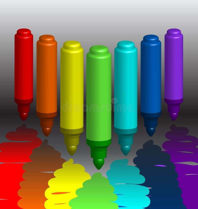 Repères multicolores illustration libre de droits