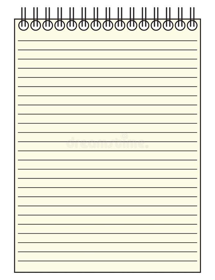 Repórter Notepad ilustração royalty free