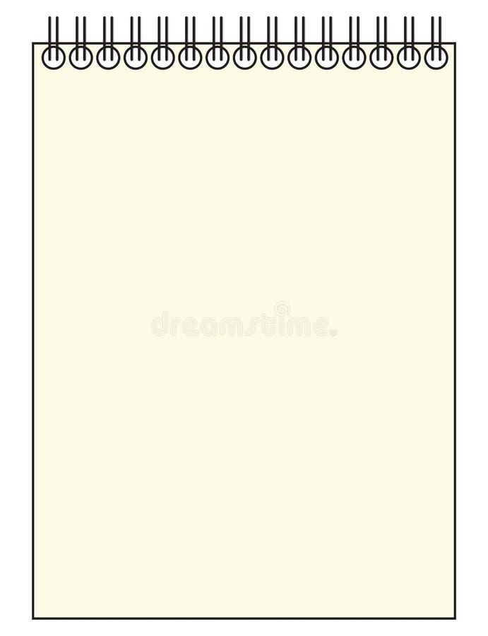 Repórter vazio Notepad ilustração stock