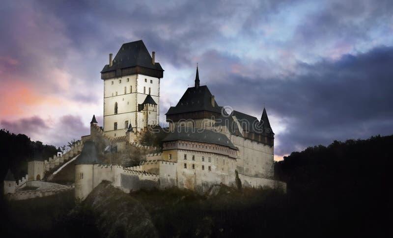 República Checa de Karlstejn del castillo gótico fotografía de archivo
