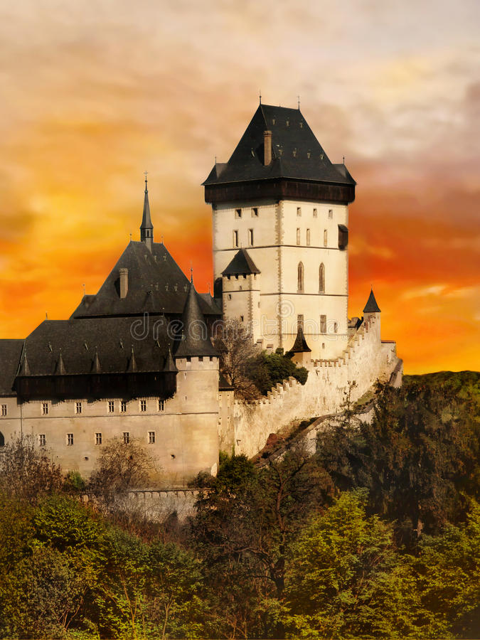 República Checa del castillo francés del castillo fotografía de archivo libre de regalías