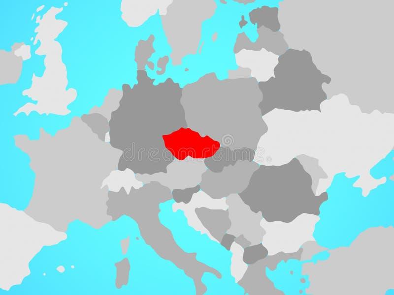 República Checa en mapa stock de ilustración