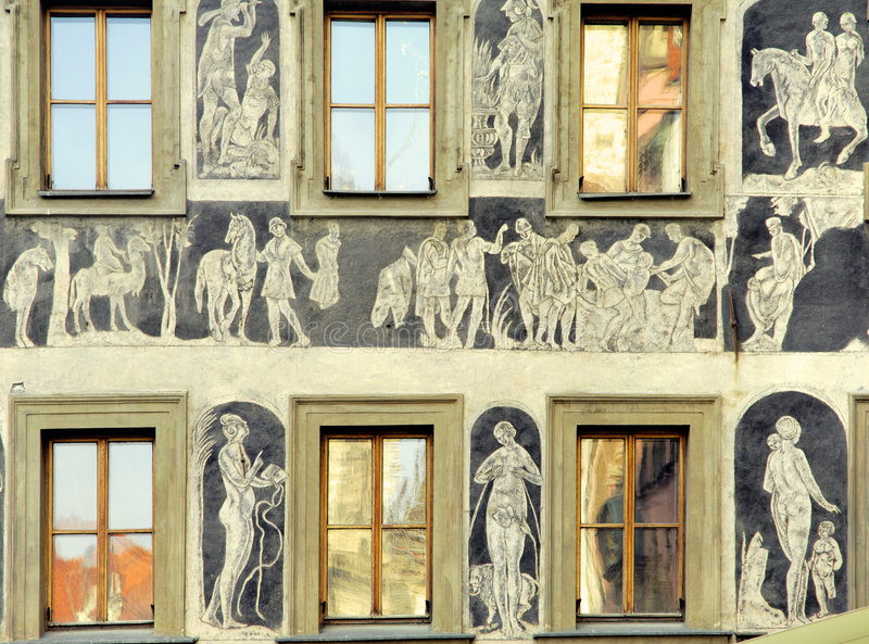 República checa, Praga: fachada velha imagem de stock royalty free
