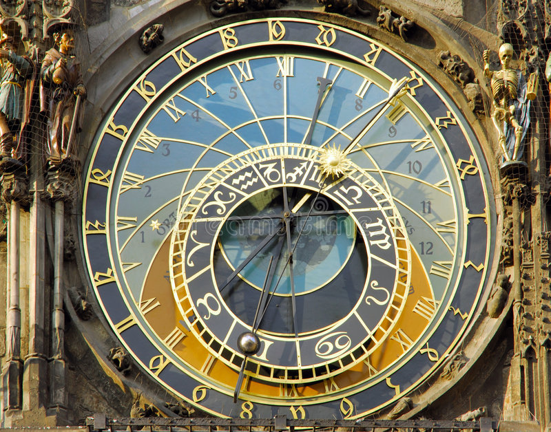 República checa, Praga: o pulso de disparo astronômico fotografia de stock royalty free