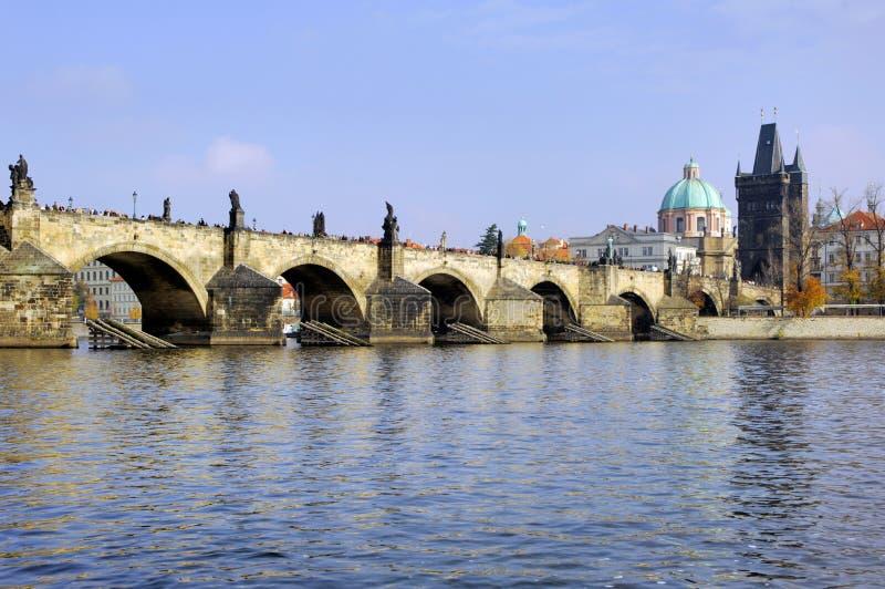 República checa, Praga: Opinião da cidade foto de stock