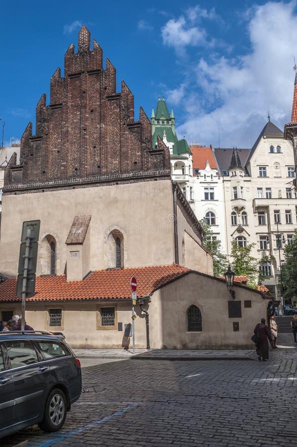 República Checa, Praga sinagoga Velho-nova imagem de stock