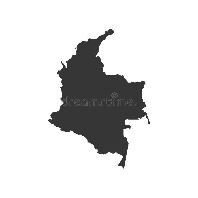 República da silhueta do mapa de Colômbia ilustração do vetor