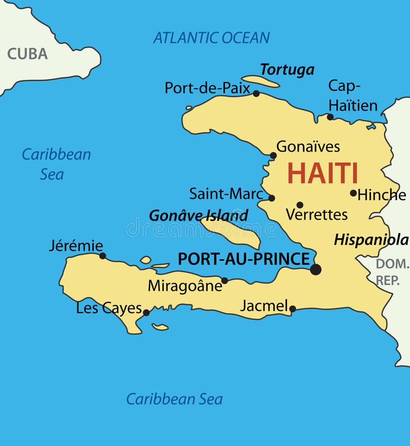 República de Haiti - mapa ilustração royalty free