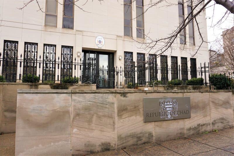 República de la embajada de República eo Tchad imagen de archivo libre de regalías
