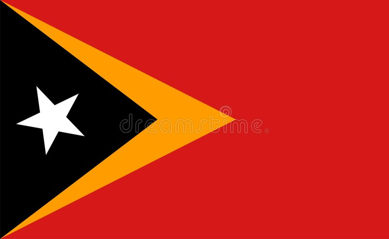 República Democratic del indicador de Timor Oriental stock de ilustración