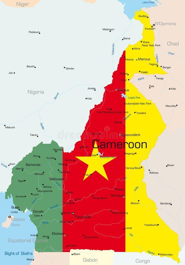 República dos Camarões ilustração do vetor