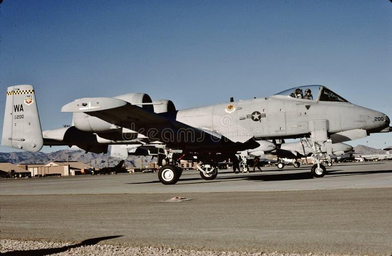 República Fairchild A-10A 80-200 do U.S.A.F. em Nellis AFB fotografia de stock royalty free